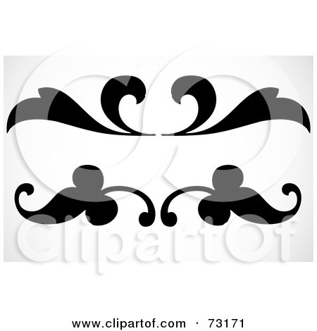 Royalty Free Rf Clipart Of Floral Scrolls Illustrations
