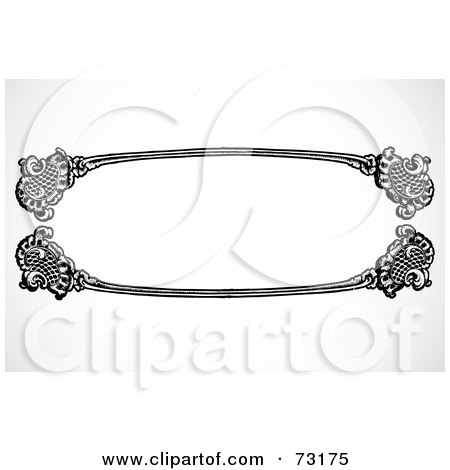 royalty free rf clipart illustration of a black and white blank