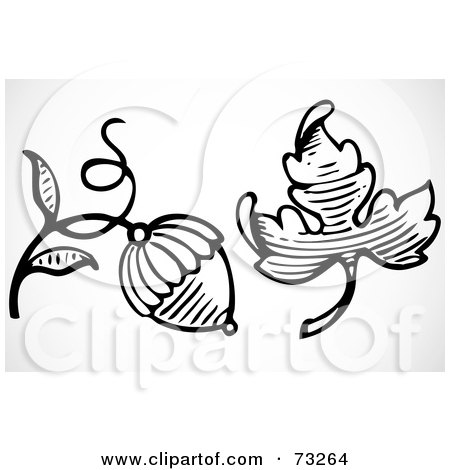 Royalty Free Rf Clipart Illustration Of An Orante Black And White