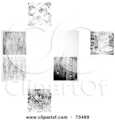 Royalty-Free (RF) Clipart Illustration of a Digital Collage Of  Black And White Texture Backgrounds by BestVector