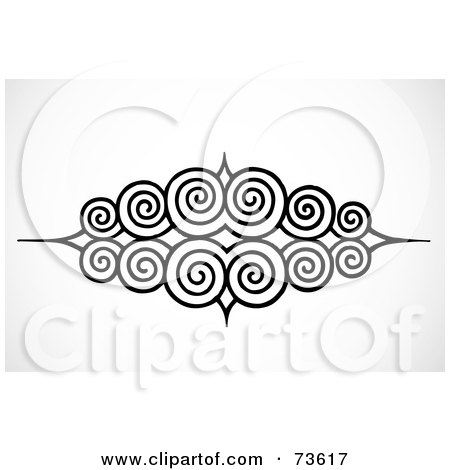 black and white wallpaper border. Black And White Circular Swirl