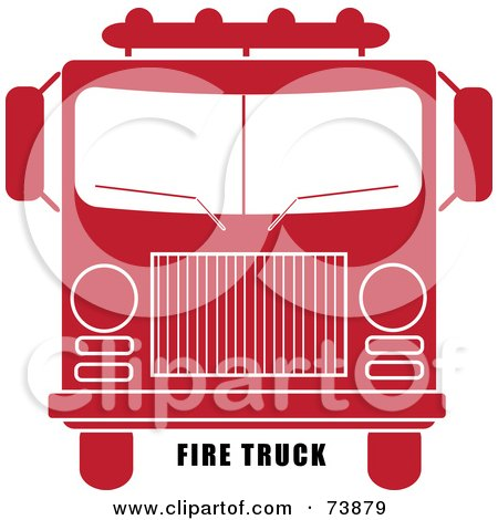 Royalty-Free (RF) Clipart Illustration of Black Fire Truck Text ...