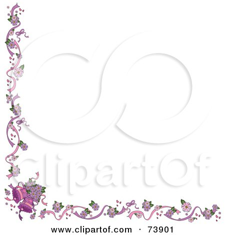 Royalty-Free (RF) Clipart Illustration of a White Background With A Wedding Bells Border by Pams Clipart