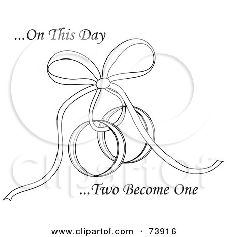 RoyaltyFree RF Clipart Illustration of On This Day Two Become One Text