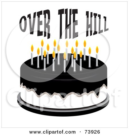 Over the Hill Clip Art http://www.clipartof.com/portfolio/randomway/illustration/black-over-the-hill-crow-wearing-a-party-hat-and-standing-on-a-cake-95375.html