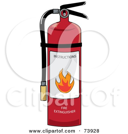 Clip Art Fire Extinguisher Clipart royalty free rf clipart of fire extinguishers illustrations red extinguisher with instructions by pams clipart