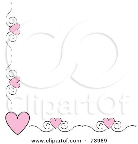 Royalty Free Rf Clipart Illustration Of A Pink Heart And