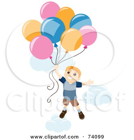 ... RF) Clipart Illustration of a Little Boy Pretending To Be A Super Hero