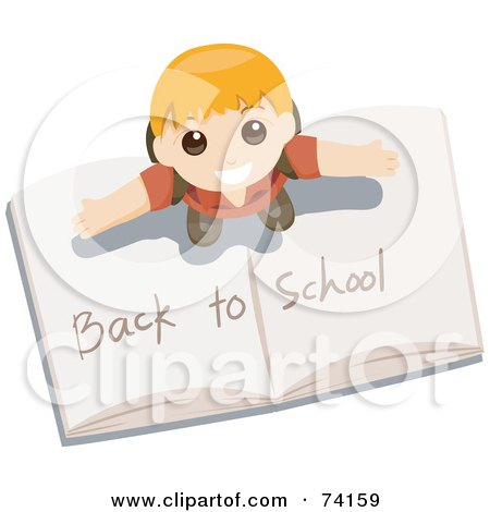 Royalty-free clipart picture of a little boy standing on
