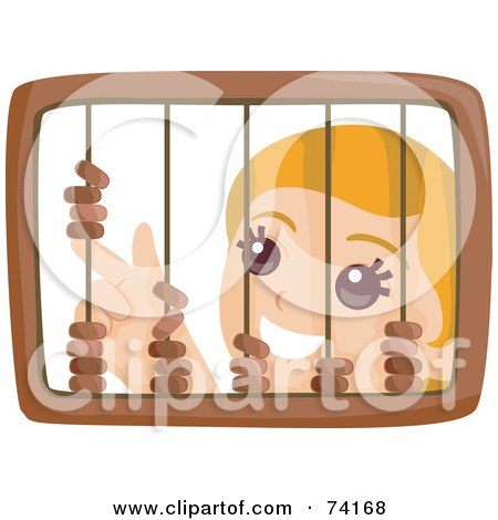 Royalty-Free (RF) Clipart Illustration of a Little Girl Playing With A Wooden Abacus by BNP Design Studio