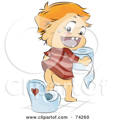 Clipart of a Toilet Paper Roll - Royalty Free Vector Illustration ...
