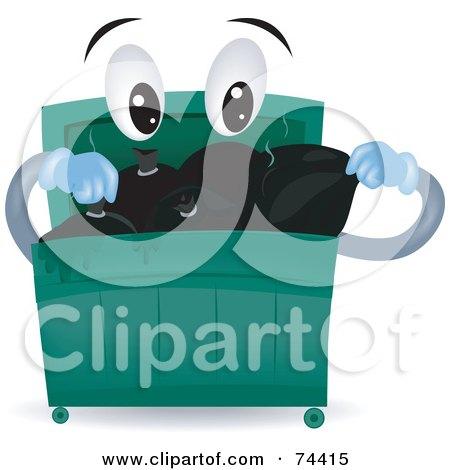 RoyaltyFree RF Dumpster Clipart