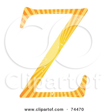 Royalty-Free (RF) Clipart Illustration of a Sunny Capital Letter Z by mheld