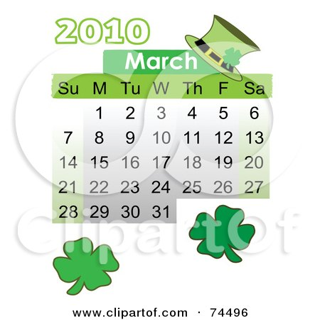 blank march calendar 2010. Similar Calendar Stock