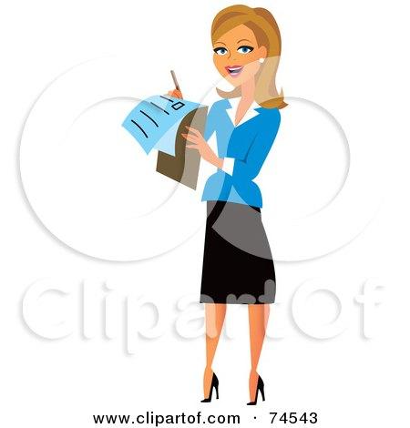 Royalty Free Rf Clip Art Illustration Of A Blond Female