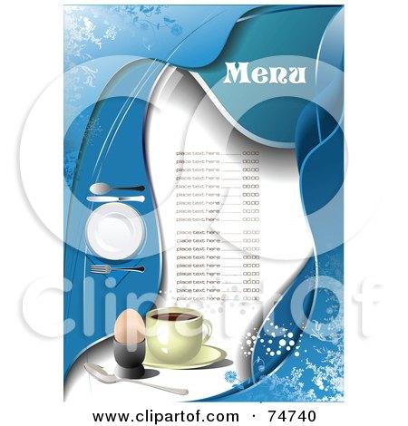 restaurant menus. site background