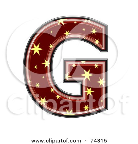 Royalty-Free (RF) Clipart Illustration of a Starry Symbol; Capital Letter G by chrisroll