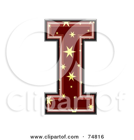 Royalty-Free (RF) Clipart Illustration of a Starry Symbol; Capital Letter I by chrisroll