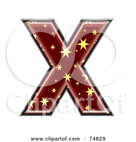 Royalty-Free (RF) Clipart Illustration of a Starry Symbol; Capital Letter X by chrisroll