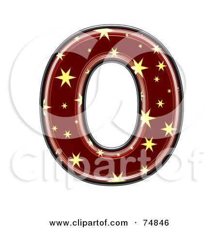 Royalty-Free (RF) Clipart Illustration of a Starry Symbol; Capital Letter O by chrisroll