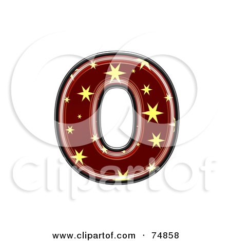 Royalty-Free (RF) Clipart Illustration of a Starry Symbol; Lowercase Letter o by chrisroll