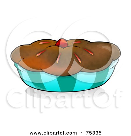 muffin clip art. Royalty-Free (RF) Clipart Illustration of a Chocolate Crusted Pie Or Muffin In An Orange Wrapper by YUHAIZAN