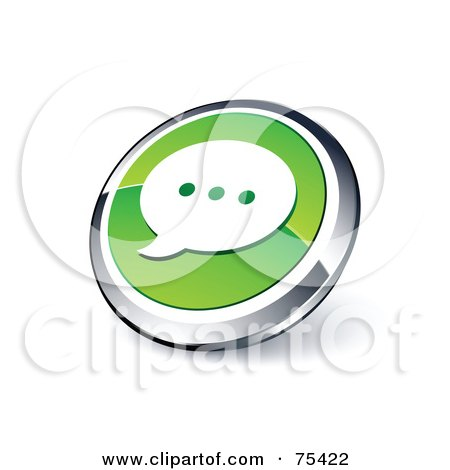 Dating site with green chat button