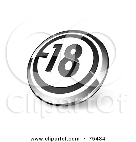 Royalty-Free (RF) Clipart Illustration Of A Round Black, White And Chrome