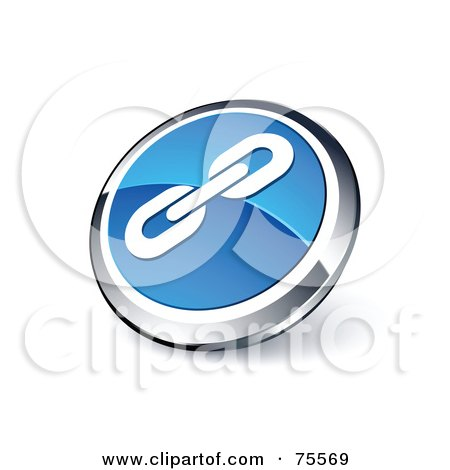 Royalty-Free (RF) Clipart Illustration Of A Round Blue And Chrome 3d Strong Links Web Site Button by beboy