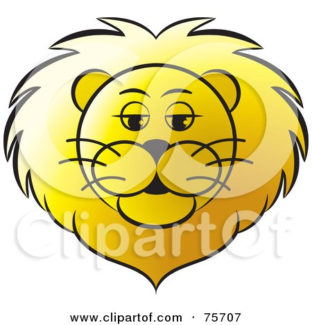 Clipart Black And White Roaring Lion Face - Royalty Free Vector ...