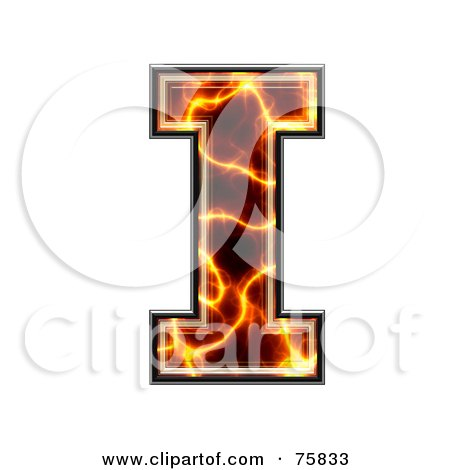 Royalty-Free (RF) Clipart Illustration of a Magma Symbol; Capital Letter I by chrisroll