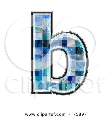 Royalty Free Rf Clipart Illustration Of A Blue Tile Symbol
