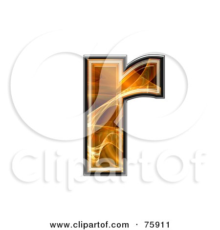 Royalty-Free (RF) Clipart Illustration of a Fractal Symbol; Lowercase Letter r by chrisroll