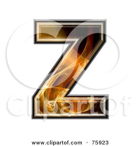 Royalty-Free (RF) Clipart Illustration of a Fractal Symbol; Capital Letter Z by chrisroll