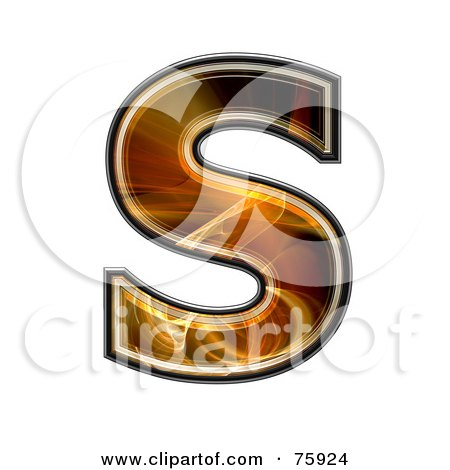 Royalty-Free (RF) Clipart Illustration of a Fractal Symbol; Capital Letter S by chrisroll