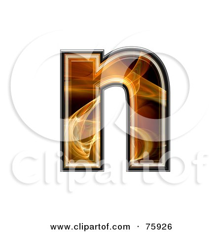 Royalty-Free (RF) Clipart Illustration of a Fractal Symbol; Lowercase Letter n by chrisroll