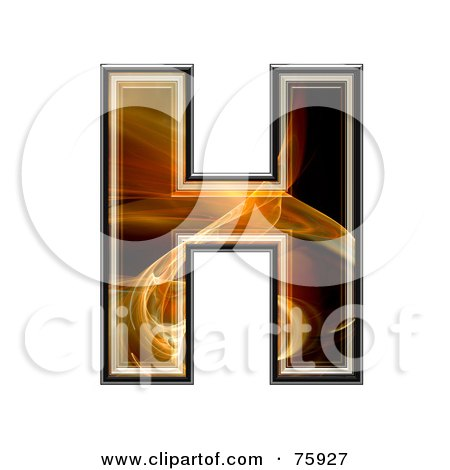 Royalty-Free (RF) Clipart Illustration of a Fractal Symbol; Capital Letter H by chrisroll