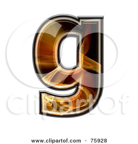 Royalty-Free (RF) Clipart Illustration of a Fractal Symbol; Lowercase Letter g by chrisroll