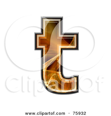 Royalty-Free (RF) Clipart Illustration of a Fractal Symbol; Lowercase Letter t by chrisroll