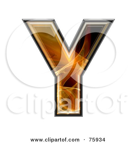 Royalty-Free (RF) Clipart Illustration of a Fractal Symbol; Capital Letter Y by chrisroll