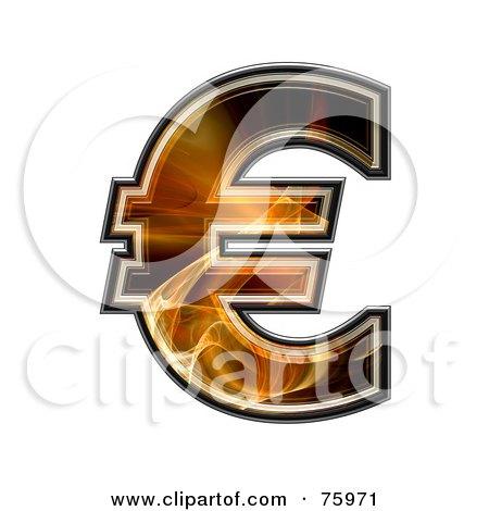 Royalty-Free (RF) Clipart Illustration of a Fractal Symbol; Euro by chrisroll