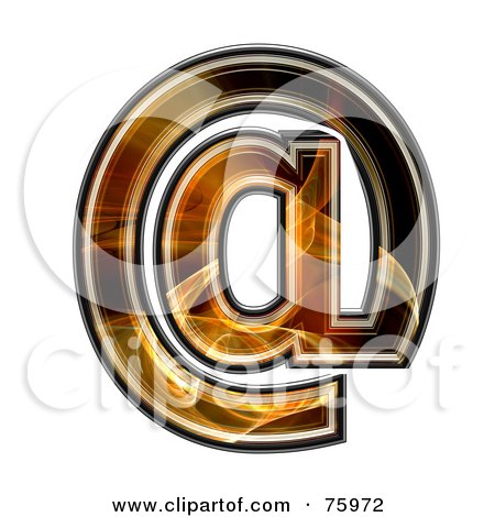 Royalty-Free (RF) Clipart Illustration of a Fractal Symbol; Arobase by chrisroll