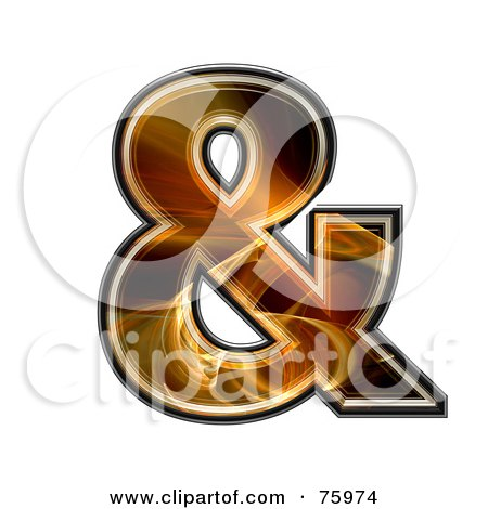 Royalty-Free (RF) Clipart Illustration of a Fractal Symbol; Ampersand by chrisroll