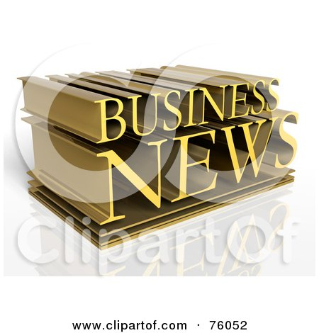 Royalty-Free (RF) Clipart Illustration of a 3d Typographic Design Of Golden Words; BUSINESS NEWS by Tonis Pan