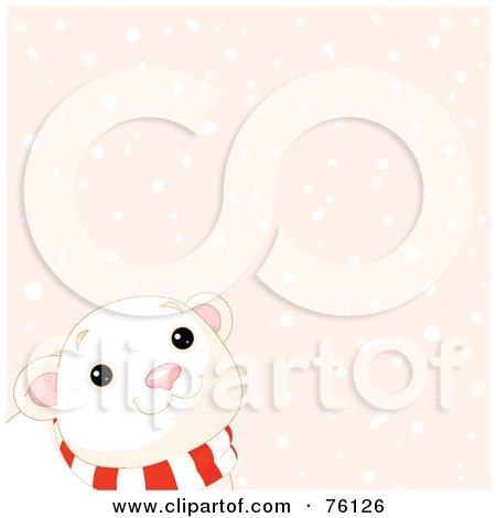Curious Baby Polar Bear Looking Up At The Snow Posters, Art Prints