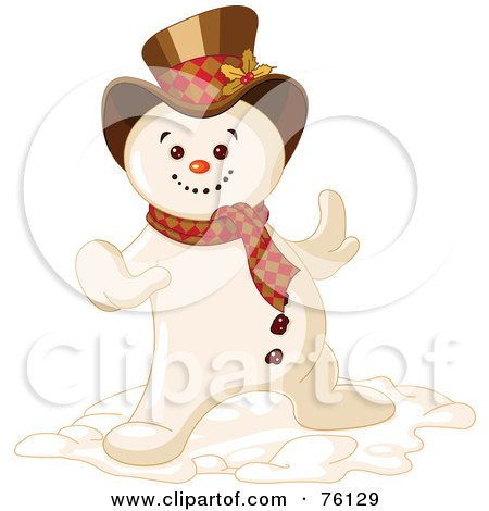 Royalty-Free (RF) Clipart Illustration of a Cool Snowman Dancing by Pushkin
