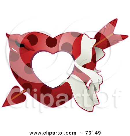 Polka Dot Heart And Pucker Frame Posters, Art Prints
