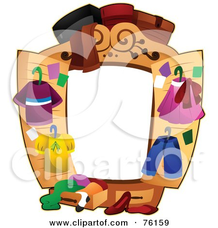 Royalty-Free (RF) Clipart Illustration of a Closet Frame by BNP Design Studio