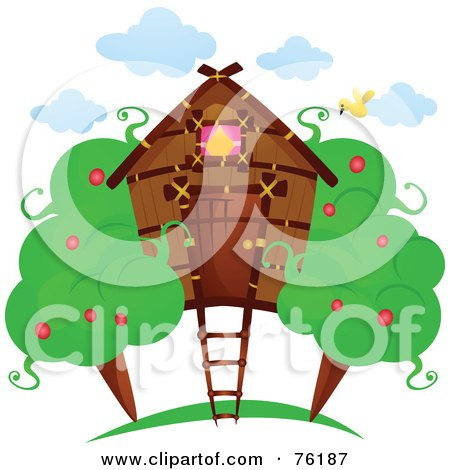 Royalty-Free (RF) Clipart Illustration of a Unique Tree Home by BNP Design Studio