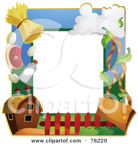 Royalty-Free (RF) Clipart Illustration of a Farming Frame by BNP Design Studio